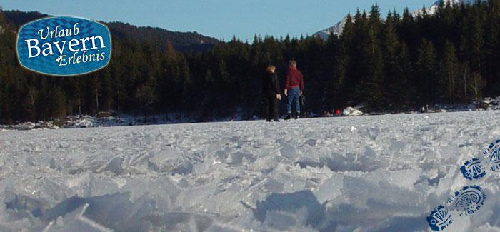 Eislaufen in der Natur in Bayern