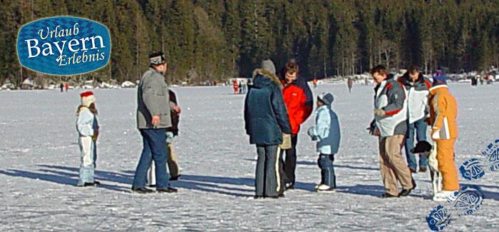 Eislaufen im Winter
