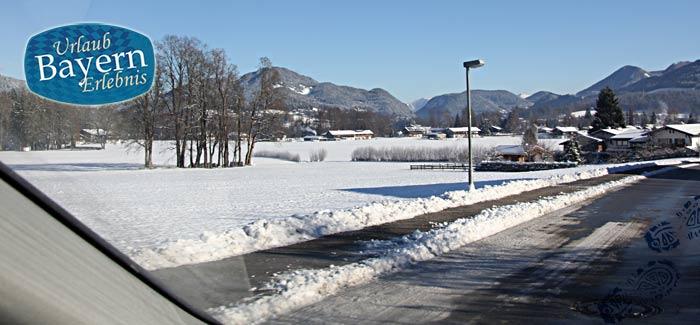 Winterliche Straßenverhältnisse in Bayern